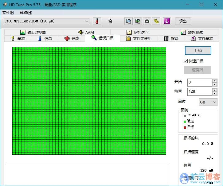 硬盘检测工具HDTune Pro v5.75 单文件专业版|扩云博客